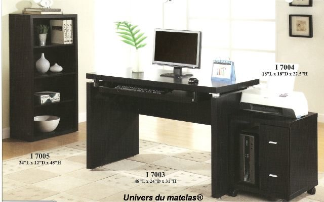 bureau d ordinateur monarch i 7003 meuble d 39 ordinateur univers du matelas. Black Bedroom Furniture Sets. Home Design Ideas